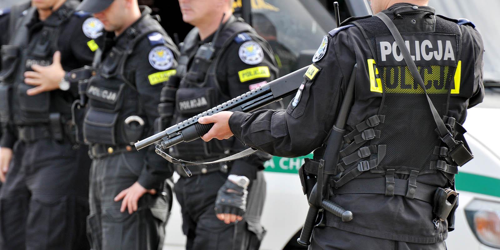 Spodnie policyjne